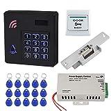 FST Sistema de Control de Acceso a Prueba de Lluvia Teclado RFID Impermeable IP68 para Exteriores + Fuente de...
