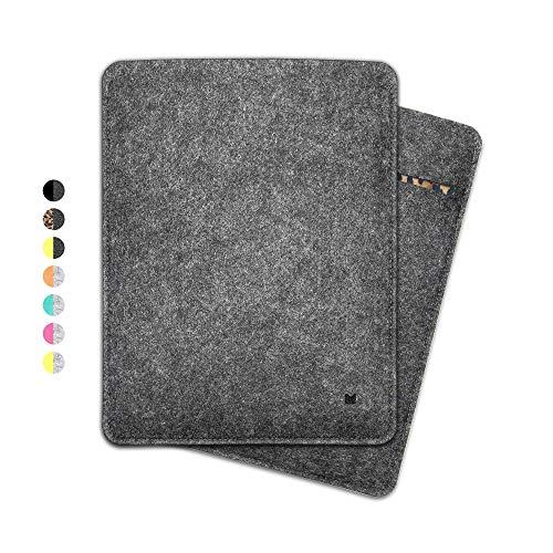 FORMGUT® iPad-Tasche, Tablet Sleeve Hülle aus Filz für iPad Pro 11 Zoll (Generation 1-2) / Tablet-Tasche, Filz-huelle, Schutzhuelle, Filztasche, Schutztasche, Cover/Dunkelgrau Leo