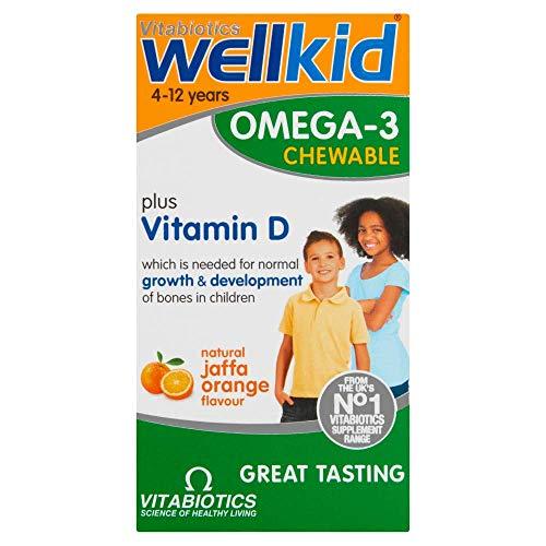 Vitabiotics Wellkid Soft Burst Orange Flavour Chewable Capsules, 60-Count