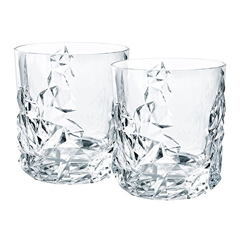 Nachtmann Sculpture Crystal Tumblers, Set of 2