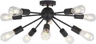 black mid century chandelier