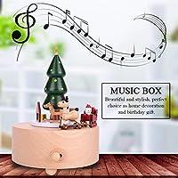 オルゴール 木製 音楽 おもちゃ ギフト 家庭用(Christmas tree)