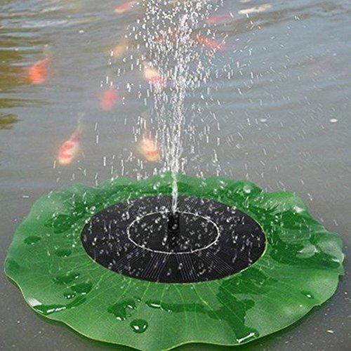 Egomall Wasserpumpe Brunnen Blatt Solar Schwimmender Lotus Teich-Garten Dekoration - 3