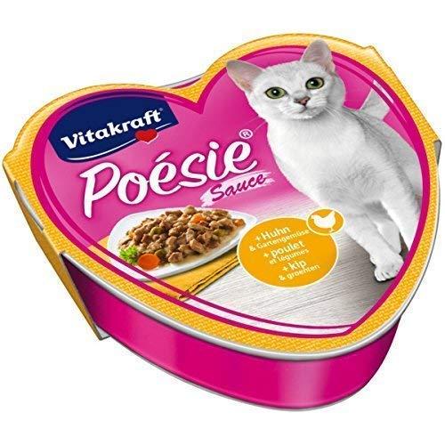 Vitakraft Katzenfutter Poesie Sauce, Huhn und Gartengemüse - 30 Schalen