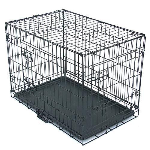 "Cimiva 30""Dog Crates Folding Metal For Medium-Large Dogs; Single Door & Double Door Dog Kennel(Black)30.5""19.1""21.8"" Kennels"