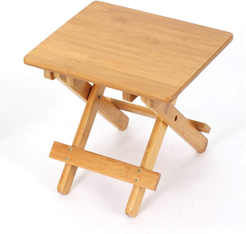 TSAR003 Bamboo Folding Wooden Bench, Outdoor Travel Portable Fishing Chair,A