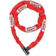 ABUS(アブス) 持ち運びやすい4mmチェーンのキーロック ABUS 4804KEY/110 RED 【日本正規品/2年間保証】 レッド