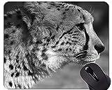 Yanteng Cojín de ratón Original de Encargo de la Serie del Leopardo, Base de Goma Antideslizante del Leopardo Salvaje Leopardo Mousepad