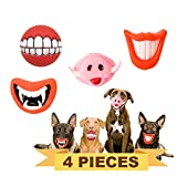 DailyItemss 4 Pieces Funny Dog Toy Lips. Big Red Lip, Pig Nose Teeth, Dracula...