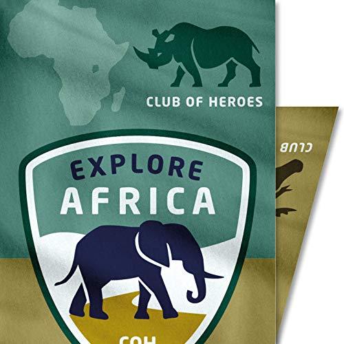 Club of Heroes Afrika Safari Tuch, nahtloses Multi-Funktiontuch 27 x 50 cm/Bandana, weiche Mikrofaser/Halstuch Kopftuch Schal Stoff-Maske Mundschutz/Reise Reiseführer Namibia Tansania Südafrika Kenia