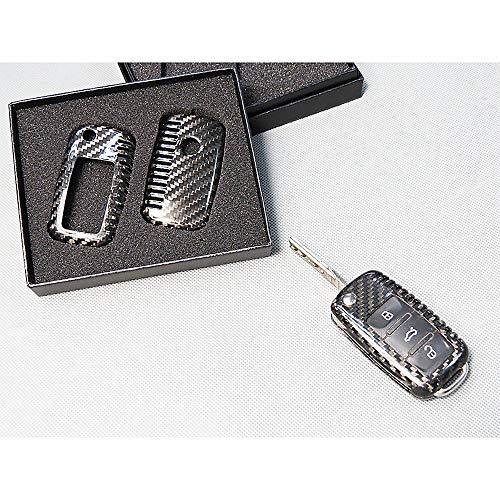 Pinalloy - Echte Karbonfaser, Funk-Klappschlüssel-Gehäuse für VW Golf, Passat.