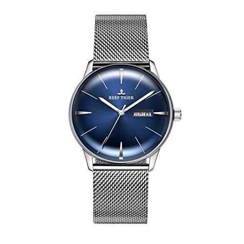 REEF TIGER Herren Uhr analog Automatik mit Edelstahl Armband RGA8238-YLY