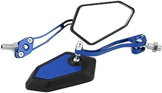 R/étroviseur Lat/éral Moto Set 10mm Placage Rond Argent R/étroviseur Moto R/étroviseur Lat/éral Gauche et Droit EBTOOLS 2Pcs Argent