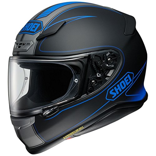 Shoei Unisex Adult RF-1200 Parameter Black/White Full Face Helmet 0109-3005-03