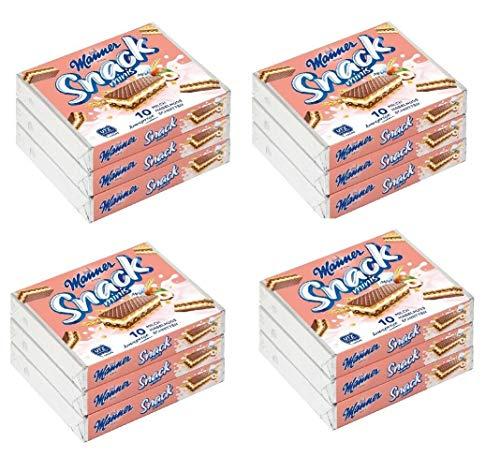 Manner Snack Minis Milch haselnuss Schnitten (4 x 3 er packung) 12 x 75 g