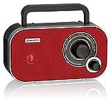 Roadstar TRA-2235 - Radio (Portátil, Analógica, FM, 6,5W, 3,5 mm, 21 cm) Rojo