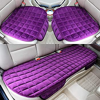 Cushion Pad Mat Protector for Auto Universal for Sedan Hatchback SUV HYUGO Car Seat Cover Car Interior Accessories 2 Front /& 1 Rear Seat Cover