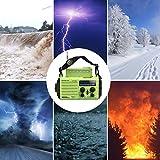 NOAA Notfall Radio, KurbelRadio Solarradio Wetterradio für Wandern und Draussen, mit AM/FM/SW, 2000mAh Wiederaufladbare Batterie, SOS Alarm, USB-Ladeanschluss, LED Taschenlampe, Lesen Lampe, Kompass - 5