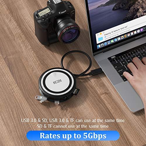 ICZI USB C Hub,8 in 1 Multiport Adapter mit HDMI 4K, VGA,100W Type c PD,2 USB 3.0 Anschlüsse,SD/TF Kartenleser und 1000 Mbps RJ45 Gigabit Ethernet für MacBook Pro/Air iPad Pro 2020 Surface Go