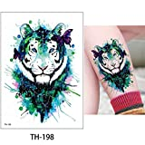adgkitb 3pcs Animal Tattoo Sticker Wolf Tiger Cool Pattern Temporal Impermeable TH-198 14.8x21cm