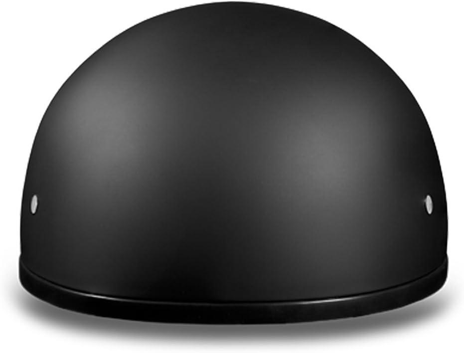 Dull Black W//O Visor 100/% DOT Approved Daytona Helmets Motorcycle Half Helmet Skull Cap