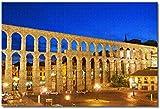 ZhuHZ.co España Segovia acueducto Rompecabezas para adultos Niños 1000 piezas Juego de rompecabezas de madera para regalos Decoración del hogar Recuerdos especiales de viaje