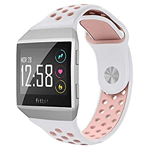 ... Soft Silicone Sport Band Replacement Accessories with Ventilation Holes for Fitbit Ionic and Adidas SmartwatchNO1seller Top Fitbit Ionic Bands Small L… ...