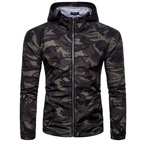 Mannen Shirts Daoroka Mannen Jongen Camouflage Casual Suntan Hoodie Lange Mouw Rits Blouse Slim Fit Mode Tops Comfort T Shirt L Camouflage