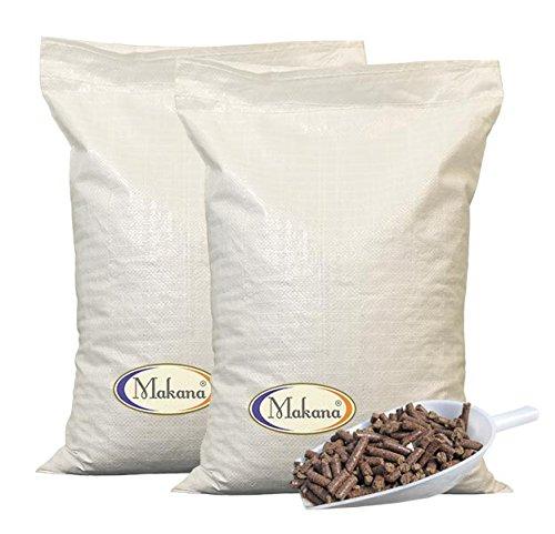 Makana Leinkuchen Pellets / Granulat Leinkuchenpellets 20 kg Sack, 2er Pack (2 x 10 kg)