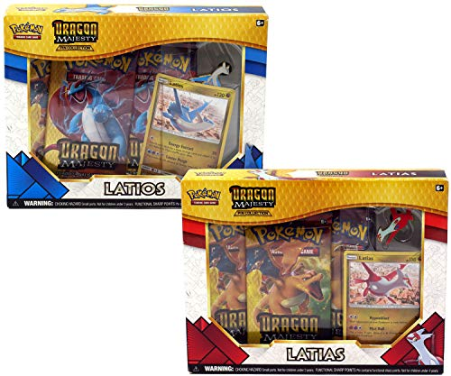 Pokemon Dragon Majesty Both Sets Booster Boxes Latios & Latias: 6 Booster Pack! Toy