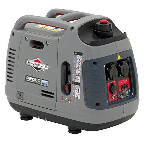 Briggs & Stratton tragbare Inverter-Generator mit Benzin der PowerSmart Series P2000 liefert 2000 Watt/1600 Watt sauberen Strom ultraleise und leichtgewichtig