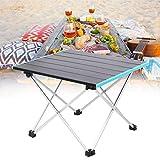 HelloCreate Mesa de camping plegable portátil para picnic al aire libre