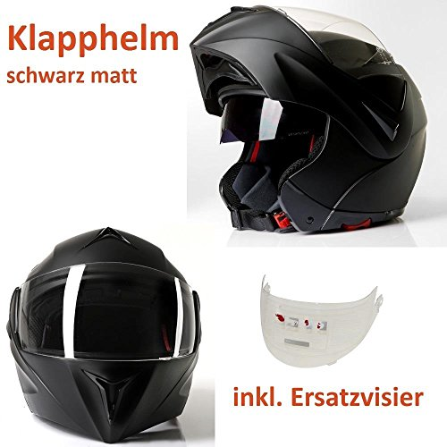 Klephelm integraalhelm motorhelm CMX Vader mat zwart met reservevizier