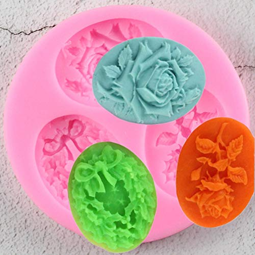 3D Rose Flowers Chocolate Wedding Cake Decorating Tools 3D Baking Fondant Silicone Mold Used To Easily Create Poured Sugar