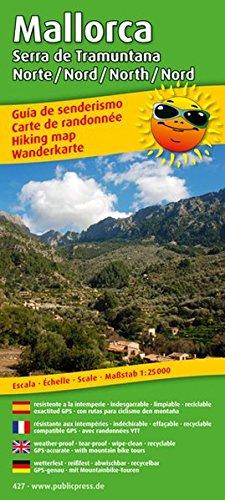 Mallorca - Serra de Tramuntana Norte/Nord /North/Nord: Wanderkarte /Hiking Map mit Mountainbike-Touren, wetterfest, reissfest, abwischbar, GPS-genau. 1:25000 (Wanderkarte / WK)