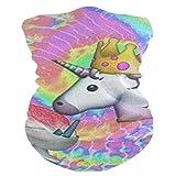 SLHFPX Unicorn Eat Ice Cream Balaclava WoHeadband Scarf Bandana,Muffler,Neck Gaiter,Magic,Wristband Tube