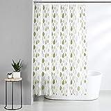 Amazon Brand - Solimo Celadon 100% PEVA Shower Curtain, 72 inch x 79 inch, Green