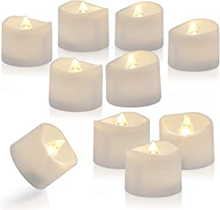 Homemory Set of 24 Timed Tealight Candles, Battery Operated Tea Candles, Flameless Flickering Electric Candles with Timer for Table Centerpieces, Mood Lighting and Home Decor, Warm White Light