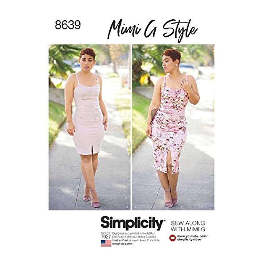 Simplicity Patterns US8639U5 Dresses, U5 (16-18-20-22-24)