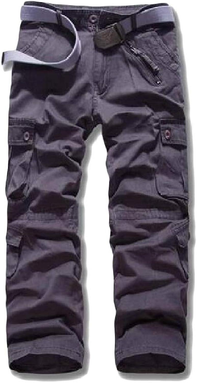 - Hajotrawa Men Trousers Slim Fit Outdoor Outdoor Outdoor Multi Pockets Cargo Pants 8ee123