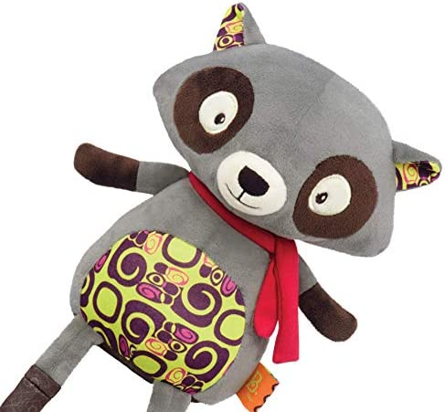 B toys by Battat Happy Yappies Rascal The Racoon Talking Teddy Toy Repeats What You Say Stuffed product image