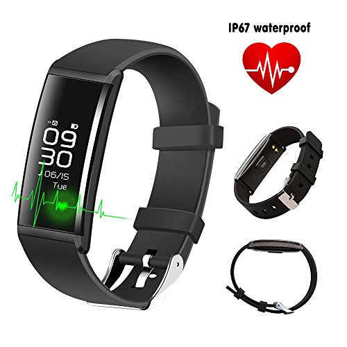 Gizmovine Bluetooth Smart bracciale IP67Smart Band Watch attività fitness tracker con cardiofrequenzimetro sonno monitor contapassi chiamata e testo