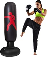 Yous Auto 160cm Inflatable Punching Bags,Fitness Punch Bag Free Standing Kick Boxing Bag Decompression Training at Home or The Gym for Adult and Children