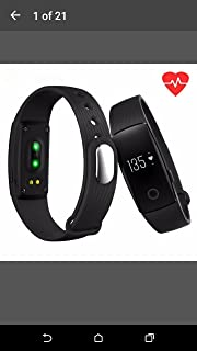 Original ID107 Sport Smart Wristband Bluetooth 4.0 Smart Band Heart Rate Sleep Monitor Smart Bracelet for IPhone SE 6S Plus IOS Android Color: Black