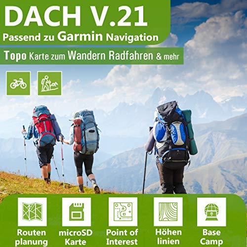 Dach V.21 - Outdoor Topo Karte passend für Garmin GPSMap 60, GPSMap 60Csx, GPSMap 62, GPSMap 62s, GPSMap 62st, GPSMap 62sc,GPSMap 62stc