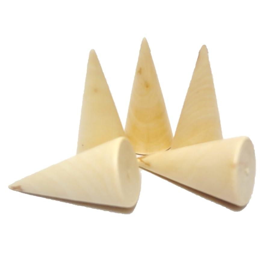 国家種一口[comoza] 指輪 リング ホルダー 木製 ディスプレイスタンド セット (5個セット)