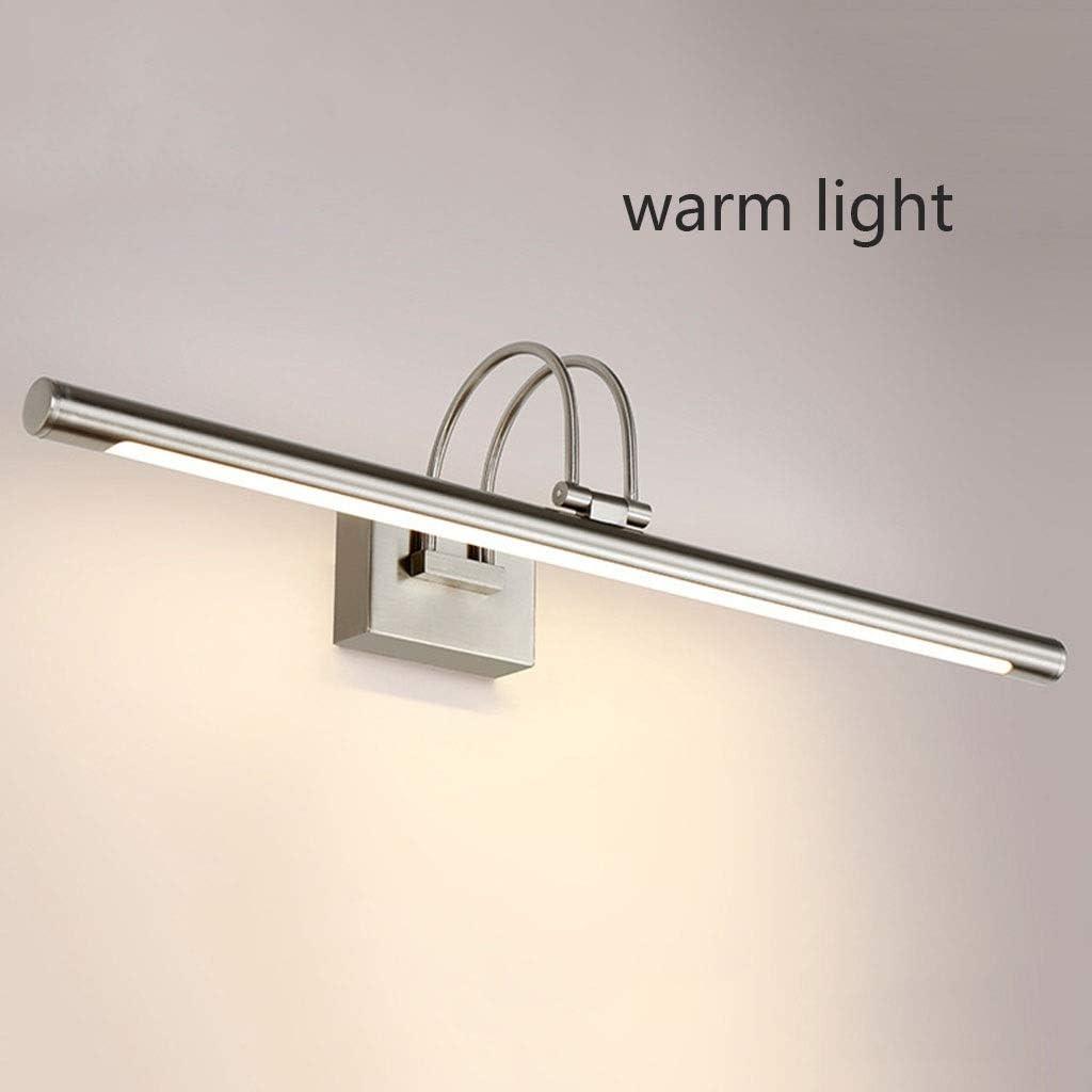 Spiegellampen, LED Spiegel Scheinwerfer Wasserdicht Anti-fog Badezimmerspiegelschrank Lampe Retro Badezimmer Make-Up Lampe Spiegellampe,Lampe (Color : Warm white light-48cm) Warm White Light-80cm