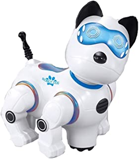Easy to control RC interactive dog robot toy with music and lights