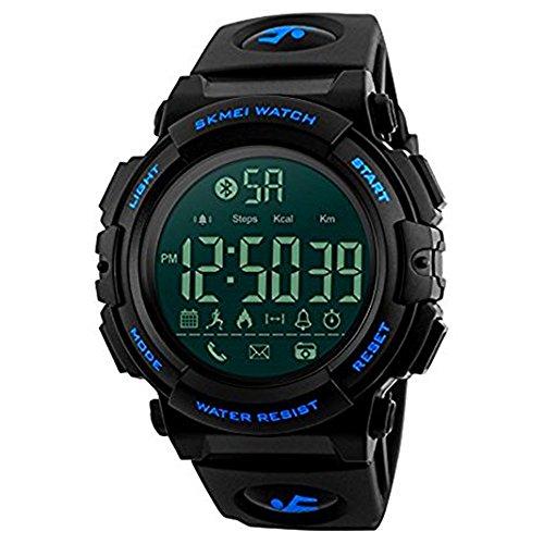 Multifunktions-Sport Bluetooth Smart-Armbanduhren, Farsler, 50 m wasserdicht, Kalorien-Schrittzähler Sport Herren Digitale Armbanduhr mit Fernbedienung, Luminous Smart-Armbanduhr, Damen Sport Uhren