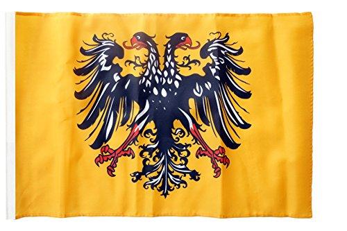 Flagge / Fahne Heiliges Römisches Reich Deutscher Nation nach 1400 + gratis Sticker, Flaggenfritze®